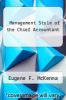 cover of Management Style of the Chief Accountant