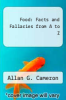 cover of Food: Facts and Fallacies from A to Z