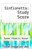 cover of Sinfionetta: Study Score