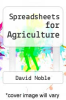 cover of Spreadsheets for Agriculture