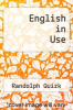 cover of English in Use (1st edition)