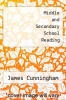 cover of Middle and Secondary School Reading