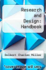 cover of Research and Design: Handbook (4th edition)