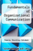 cover of Fundamentals of Organizational Communication (2nd edition)