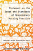 cover of Statement on the Scope and Standards of Respiratory Nursing Practice
