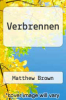 cover of Verbrennen
