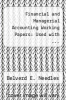 cover of Financial and Managerial Accounting Working Papers: Used with ... Needles-Financial and Managerial Accounting (1st edition)