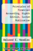 cover of Principles of Financial Accounting, Eighth Edition, Custom Publication (1st edition)