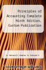 cover of Principles of Accounting Complete Ninth Edition, Custom Publication (9th edition)