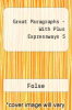 Great Paragraphs - With Plus Expressways 5 by Folse - ISBN 9780618661398