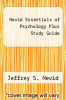 cover of Nevid Essentials of Psychology Plus Study Guide