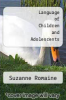 cover of Language of Children and Adolescents