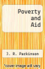 cover of Poverty and Aid