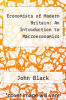 cover of Economists of Modern Britain: An Introduction to Macroeconomics (3rd edition)