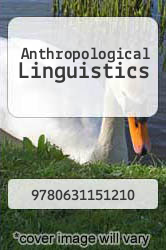 Anthropological Linguistics by NA - ISBN 9780631151210