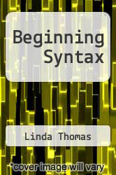 Cover of Beginning Syntax EDITIONDESC (ISBN 978-0631188278)