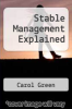 cover of Stable Management Explained
