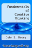 cover of Fundamentals of Creative Thinking