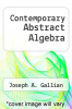 cover of Contemporary Abstract Algebra (2nd edition)