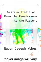 Cover of Western Tradition: From the Renaissance to the Present 3 (ISBN 978-0669811414)