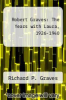 cover of Robert Graves: The Years with Laura, 1926-1940