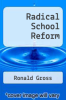 cover of Radical School Reform