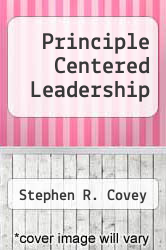 Cover of Principle Centered Leadership  (ISBN 978-0671711351)
