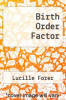 cover of Birth Order Factor