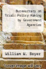 cover of Bureaucracy on Trial: Policy Making by Government Agencies