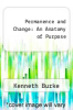 cover of Permanence and Change: An Anatomy of Purpose (2nd edition)