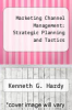 cover of Marketing Channel Management: Strategic Planning and Tactics (1st edition)