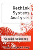 cover of Rethink Systems Analysis (1st edition)