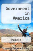 cover of Government in America (6th edition)