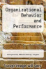 cover of Organizational Behavior and Performance (5th edition)