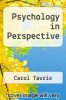 cover of Psychology in Perspective (2nd edition)