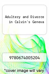 Cover of Adultery and Divorce in Calvin