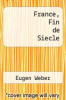 cover of France, Fin de Siecle