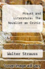 cover of Proust and Literature: The Novelist as Critic