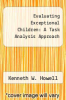 cover of Evaluating Exceptional Children: A Task Analysis Approach