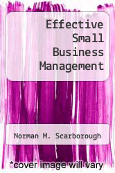Cover of Effective Small Business Management EDITIONDESC (ISBN 978-0675201018)
