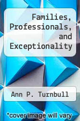 Cover of Families, Professionals, and Exceptionality EDITIONDESC (ISBN 978-0675204842)