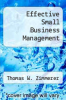 cover of Effective Small Business Management (3rd edition)