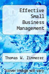 Cover of Effective Small Business Management 3 (ISBN 978-0675212823)