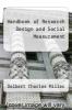 cover of Handbook of Research Design and Social Measurement (3rd edition)