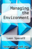 cover of Managing the Environment