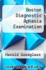 cover of Boston Diagnostic Aphasia Examination (3rd edition)