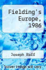 cover of Fielding`s Europe, 1986