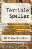 cover of Terrible Speller (1st edition)
