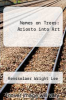 cover of Names on Trees: Ariosto into Art