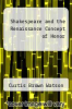 cover of Shakespeare and the Renaissance Concept of Honor